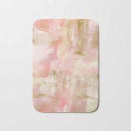 Rustic Gold and Pink Abstract Bath Mat