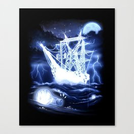 """""""High-Voltage Ghost Ship"""" Canvas Print"""