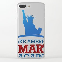 Make America Smart Again! Clear iPhone Case