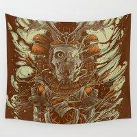 samurai Wall Tapestries featuring MKI Samurai  by MindkillerINK