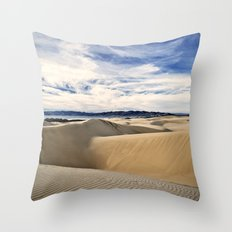 Sand Dunes and Ocean Views Throw Pillow