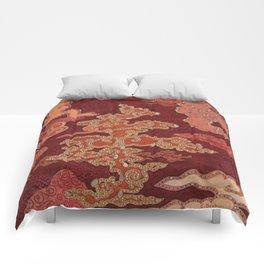 Crimson Clouds Comforters