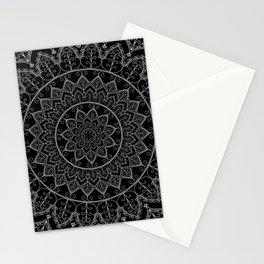 Black and White Lace Mandala Stationery Cards