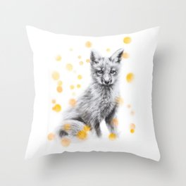 Fox sitting Throw Pillow