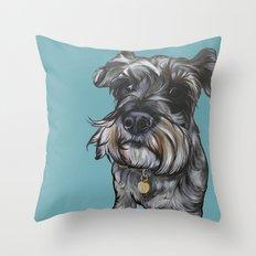 Peter the Schnauz Throw Pillow