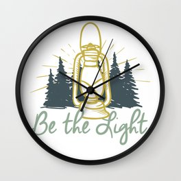 Be the Light Christian Inspiration Lantern  Wall Clock