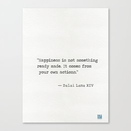 Dalai Lama XIV quote Canvas Print