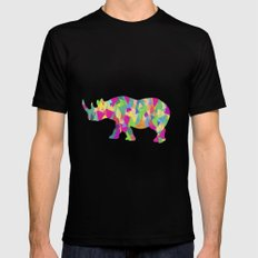 Abstract Rhino MEDIUM Black Mens Fitted Tee