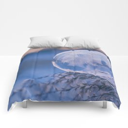 A Single Snowflake (Color) Comforters