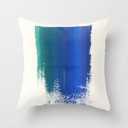 Paint Smudge in Blue Green Gradient Throw Pillow