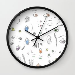 Eyes and Eyes (II) Wall Clock