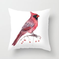 Red Cradinal Throw Pillow