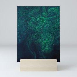 Algal bloom in the Baltic Sea Mini Art Print