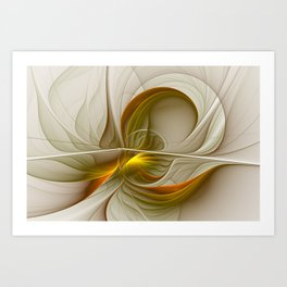 Abstract With Colors Of Precious Metals 2 Art Print