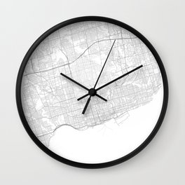 Toronto, Canada Minimalist Map Wall Clock