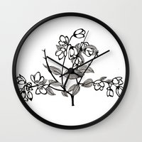 jasmine Wall Clocks featuring Jasmine by Dianadia