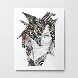 Origami Girl Two Metal Print