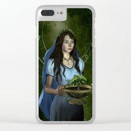 Virgo zodiac fantasy Clear iPhone Case