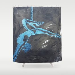 Swinging the Rope Shower Curtain