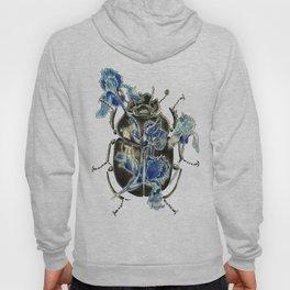 Beetle in blue irises Hoody