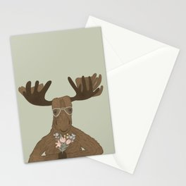 Date Night Moose Stationery Cards