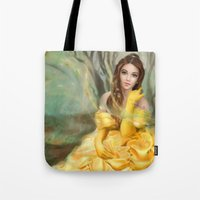 belle Tote Bags featuring Belle by MartaDeWinter