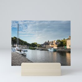 The habour of the city of Dinan Mini Art Print