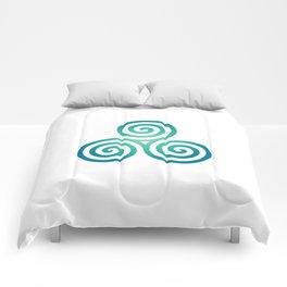St. Patrick's Day Celtic Blue Triskelion #1 Comforters