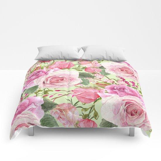Watercolor Roses #5 Comforters