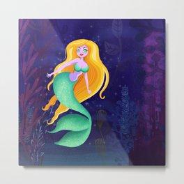 Sweet Siren Of The Sea Metal Print
