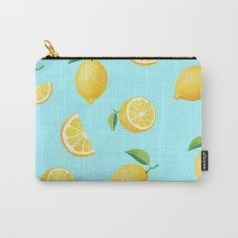 Lemons on Blue Carry-All Pouch