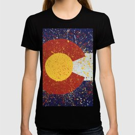 Splatter Colorado Flag Art T-shirt