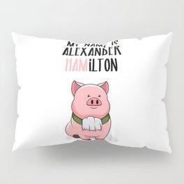 Alexander Hamilton Pig Piggy Ham BBQ Musical Pillow Sham