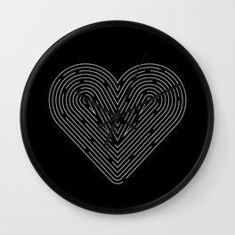 The Heart Maze Wall Clock