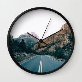 Road Through The Mountains Wall Clock