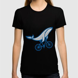 WHALE BIKE Funny Cycling Gift Bicycle Rider T-shirt