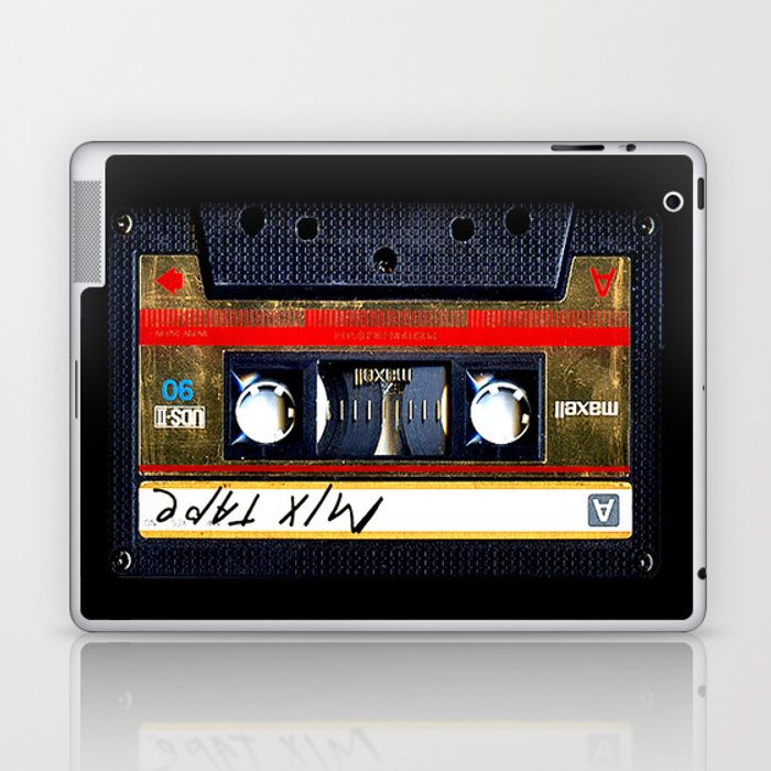 Retro cassette mix tape Laptop & iPad Skin