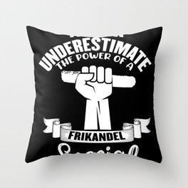 Frikandel Bread Holland Fast Food Meatball Throw Pillow
