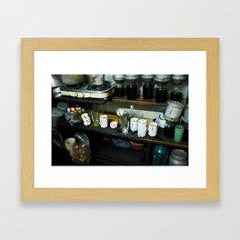 Vietnamese Coffee Shop in Hanoi Framed Art Print