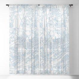 Street MAP Frankfurt // Blке Sheer Curtain