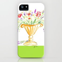 Whimsical flowers in an urn iPhone Case