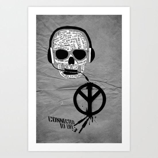 Love' skull -  a collaboration between Sam Guilhen and Gwenola de Muralt - Art Print
