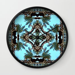 Architectural Palm Trees  Wall Clock