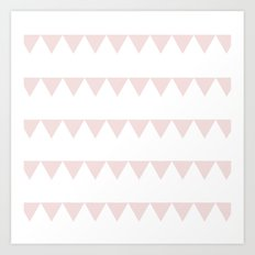 TRIANGLE BANNER (Muted Pink) Art Print