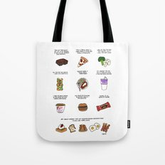 Foods of Parks and Rec Tote Bag