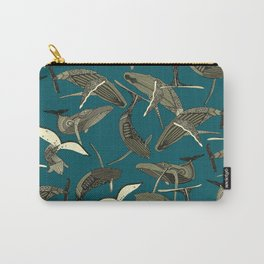 just whales blue Carry-All Pouch