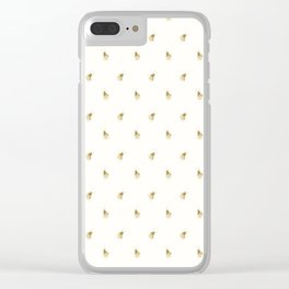 Gold Watercolour Bee Print Clear iPhone Case