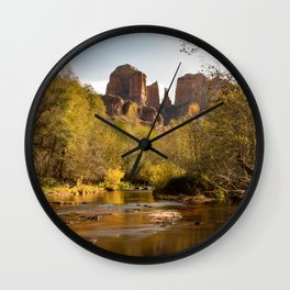 Red Rock Reflections Wall Clock
