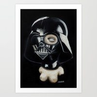 boob Art Prints featuring Boob Vader by Nataliette
