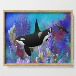 Under The Sea Orca Killer Whale Serving Tray